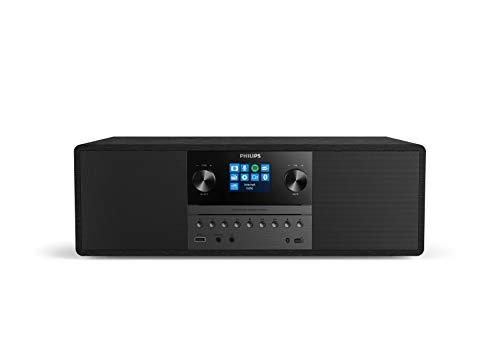 Philips Audio M6805/10 Micro Music System with Bluetooth (Hifi System, Internet Radio DAB+/FM, USB, Spotify Connect, CD, MP3-CD, 50 W, All-In-One Micro System, Digital Sound Control) – 2020/2021 Model