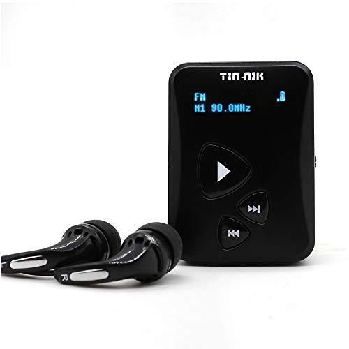 Tin-Nik DAB-398S Portable Digital DAB Radio, DAB+/DAB/FM Mini Radio, Pocket FM Radio with Earphones, OLED Display, Rechargeable Battery for Sports,Run, jogging or Cycling