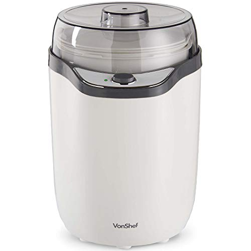 VonShef Yoghurt Maker Machine with Strainer, Removable Small & Large Containers for Easy Cleaning & Simple On/Off Electric Switch Function - Ideal to Produce Healthy, Greek and Natural Yogurt