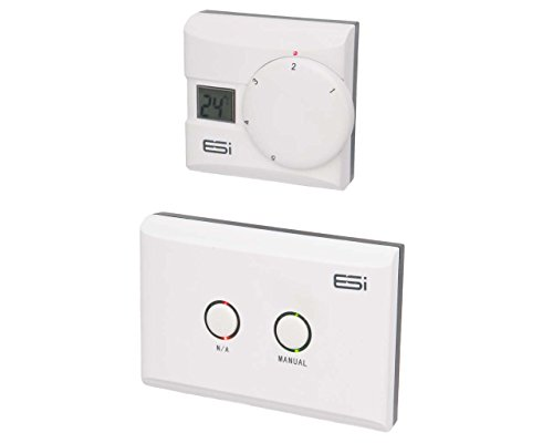 ESI - Energy Saving Innovation Controls ESRTERFW Wireless Electronic Room Thermostat with LCD Display, Multicolor