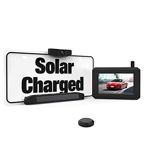 BOSCAM SunGo Solar Powered Wireless Reversing Camera, No Wiring Minutes Installation, Digital Wireless Rear View Camera with Stable Signal, Night Vision Reverse Camera