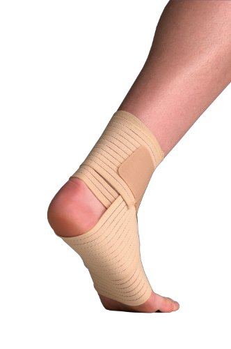 Thermoskin Elastic Ankle Wrap Support for Either Foot — Adjustable — S/M 17-24cm