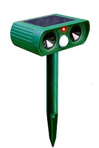 Cat Fox Repellent,Waterproof Ultrasonic Cat Repellant Garden,Solar Powered Pet Dog Deterrent, Cat Scarer for Dog Birds Foxes Animal Outdoor (GREEN)