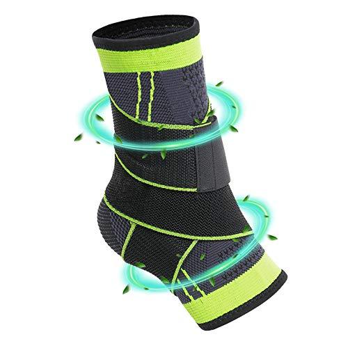 KCSHRAN Ankle Braces, Elastic Compression Ligament Ankle Support Socks with Adjustable Strap for Improved Sprained Ankle, Arthritis, Strain, Fatigue, Achilles Tendonitis