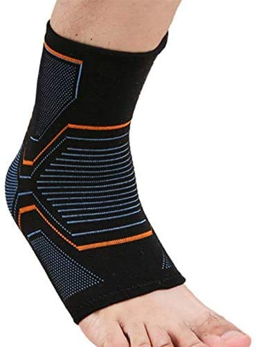 VITTO Ankle Support for Sprained Ankle, Arthritis, Joint Pain, Strains, Ankle Injury, Recovery, Rehab, Sports, Basketball - Multi Zone Compression Sleeve (L)