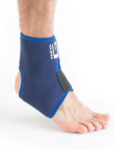 Neo G Ankle Support - for Injured, Arthritic Ankles, Strains, Sprains, Pain, Instability, Recovery & Rehabilitation - Adjustable Compression - Class 1 Medical Device - One Size - Blue