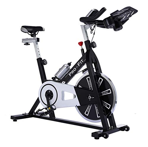 UK Fitness Indoor Exercise Bike Indoor Cycling Cardio Work Out Cycle 13kg Fly Wheel Includes 3 Month Membership to Studio SWEAT onDemand classes