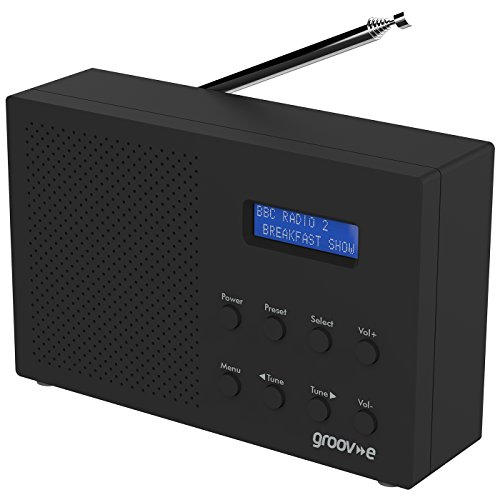 Groov-e Paris Portable DAB/FB Digital Radio with 20 Preset Stations
