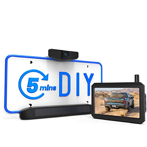 AUTO-VOX Solar Reversing Camera Wireless Kit, 5 Mins DIY Installation, Clear Image Backup Camera with IP68 Waterproof for Cars and Van