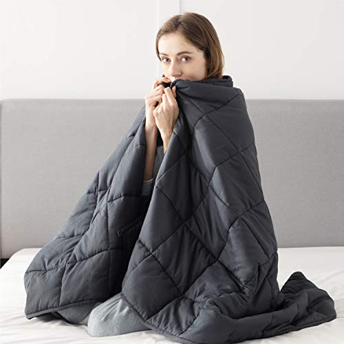 Bedsure Weighted Blanket for Adults - 6.8 KG Double Heavy Blanket Cover for Autism, 150x200cm