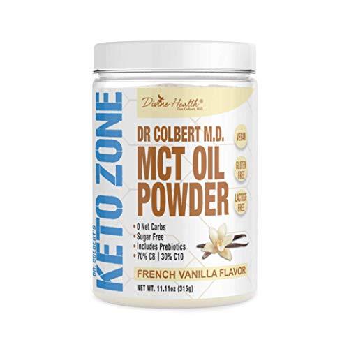Dr. Colbert's Keto Zone MCT Oil Powder, Vegan, French Vanilla Flavour