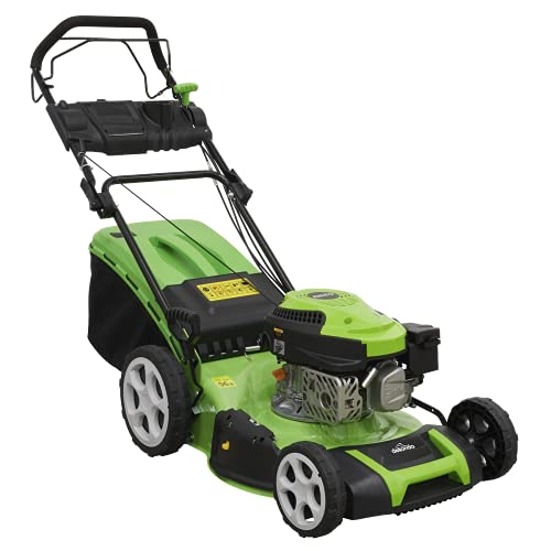 Dellonda Self Propelled Petrol Lawnmower Grass Cutter, 144cc 18'/46cm 4-Stroke - DG101