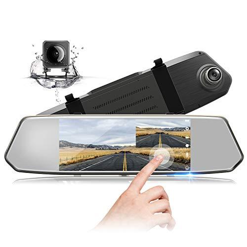 TOGUARD Mirror Dash Cam 7 Inch IPS Touch Screen