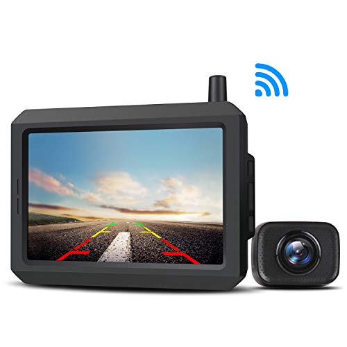 AUTO-VOX W-7 Reversing Camera Digital Wireless Reversing Camera Kit Stable Signal Reverse Camera IP68 Waterproof Rear View Camera with Clear Image Backup Camera