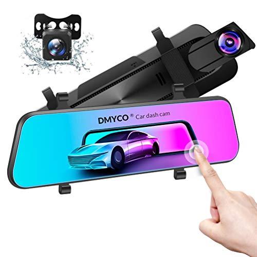 DMYCO Mirror Dash Cam, 10 inch HD 2.5K Dual Lens Camera