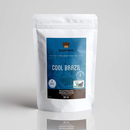 Brown Bear Cool Brazil, Decaffeinated Ground Coffee