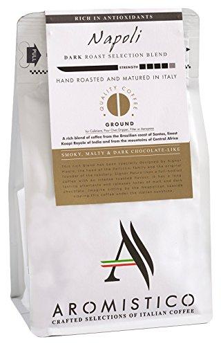 AROMISTICO Rich Strong Dark Roast Italian Ground Coffee