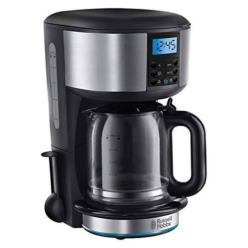 Russell Hobbs 20680 Buckingham Filter Coffee Machine, 1.25 Litre, Black/Silver