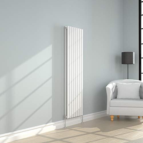 NRG Vertical Designer White Double Panel Radiator