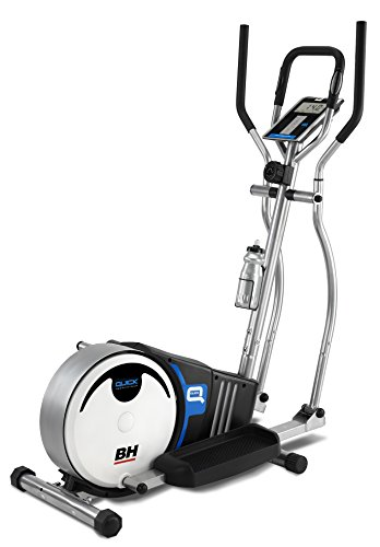 Bh Fitness Unisex_Adult Crosstrainer Quick Elliptical Trainer, White/Black/Blue, One size