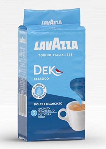 Lavazza Dek Decaffeinated Natural Method Ground Coffee