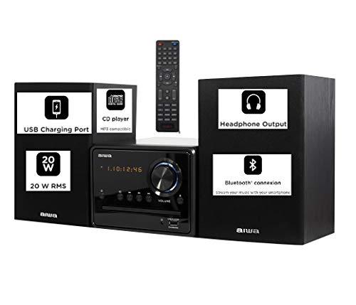 Aiwa MSBTU-300 UK Micro HiFi System , 20W RMS, with Bluetooth, CD, FM , USB and Remote control