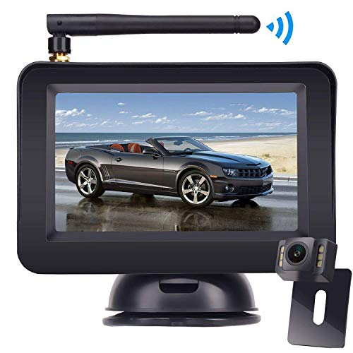 Wireless Reversing Camera, DOUXURY 4.3'' LCD Rear View Monitor + 170° Wide Angle IP68 Waterproof Rear View Camera, Night Vision Universal for Cars, Trucks, Vans