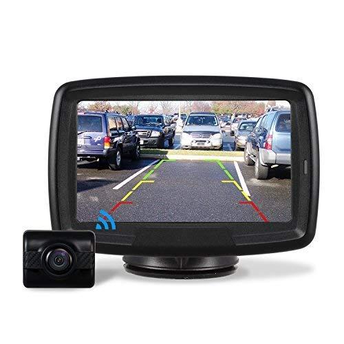 AUTO-VOX TD-2 Digital Wireless Reversing Camera IP68 Waterproof Backup Camera Stable Signal Reverse Camera Kit with Night Vision Car Rear View Camera 4.3'' LCD Monitor 12V-24V …