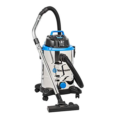 Vacmaster Wet and Dry Vacuum Cleaner 30L | Tough, Powerful 1500W Garage Vacuum & Workshop Dust Extractor with Power Tool Take Off, Blower Function & Drainage Port