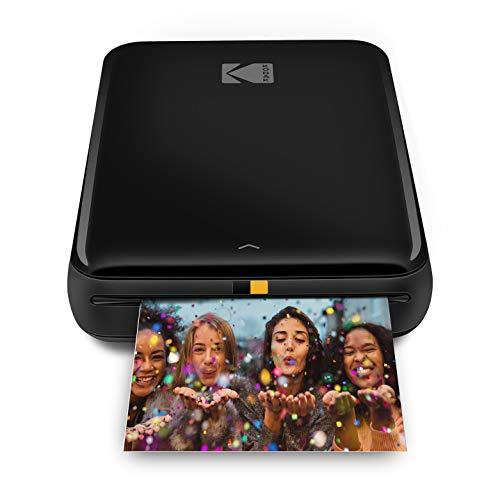 KODAK Step Instant Printer   Bluetooth/NFC Wireless Photo Printer with ZINK Technology & KODAK App for iOS & Android (Black) Prints 2x3 Inch Sticky-Back Photos