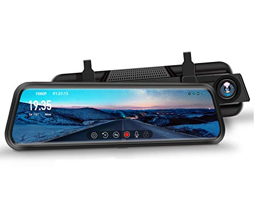 DuDuBell 10 inch Mirror Dash Cam with Starlight night vision