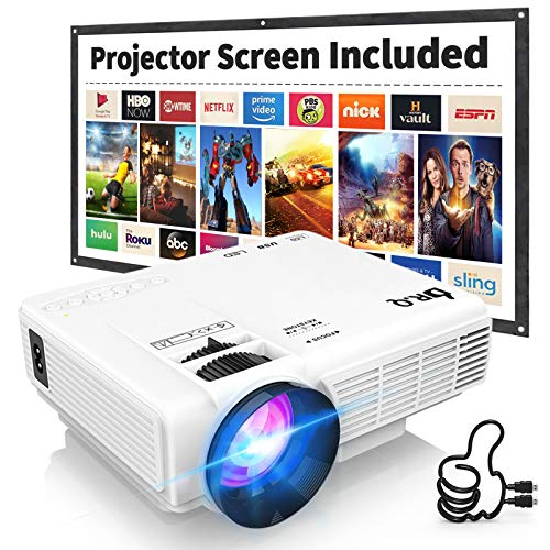 DR.Q HI-04 Projector with Projection Screen 1080P Full HD Supported