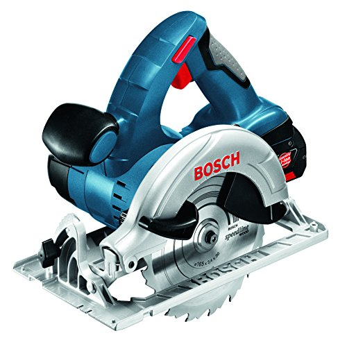 Bosch Professional GKS 18 V-LI Cordless Circular Saw with 2 x 18 V 5.0 Ah Lithium-Ion Batteries, L-Boxx