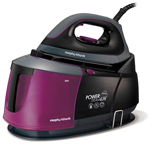 Morphy Richards Steam Generator iron Power Steam Elite with Auto Clean and Safety Lock 332012 Purple/Black Steam Generator Iron