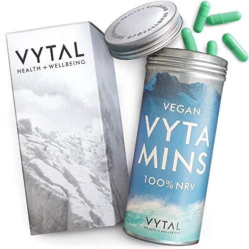Vegan Multivitamin & Minerals Formula | 180 Capsules (6 Months Supply) | 23 Multivitamins and Minerals for Men and Women | Multivitamin Capsules Suitable for Vegetarians and Vegans by Vytal