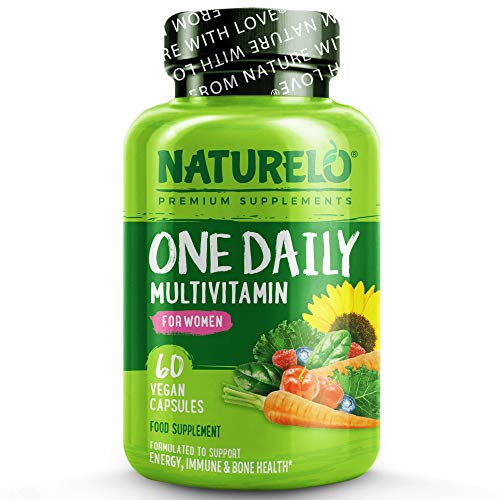 NATURELO One Daily Multivitamin for Women - with Natural Vitamins & Fruit Extracts for Maintaining Essential Nutrient Levels - 60 Capsules | 2 Month Supply