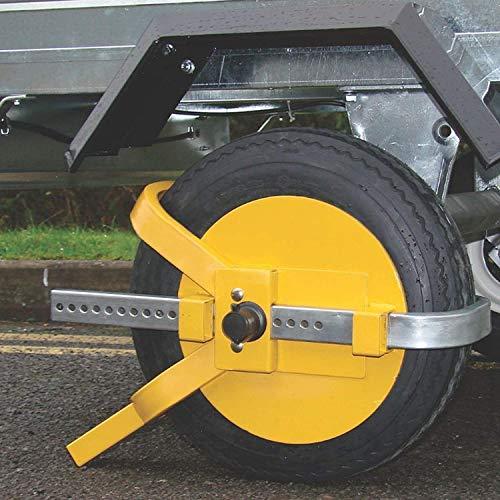 KingSaid Wheel Clamp Wheel Lock Heavy Duty 13' - 15' Steel Car Van Safety Secure Anti Theft Deterrent for Caravan Trailer Cars Small Wheel