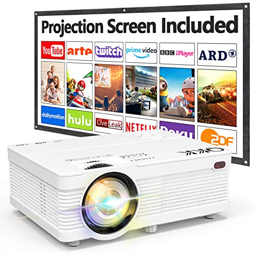 QKK AK-81 Projector With Projection Screen