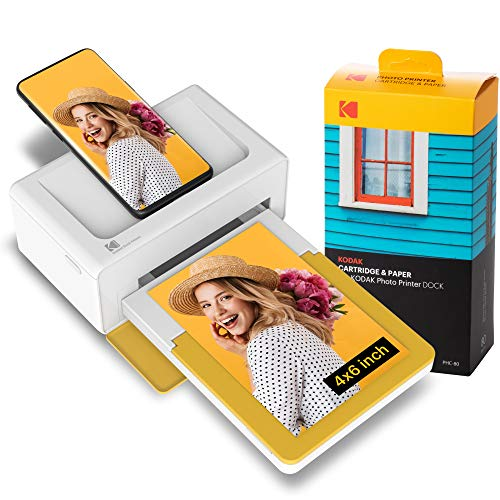Kodak PD460 Dock Plus 4x6' Instant Photo Printer, Bluetooth Wireless Photographic Printer, Compatible with Android and Apple Devices, 90 photos included