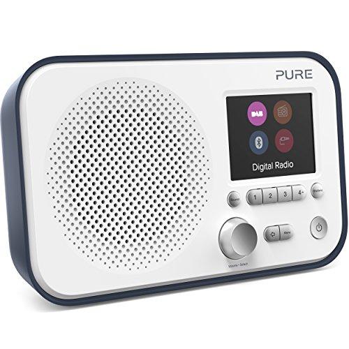 Pure Elan BT3 Portable DAB/DAB+/FM Digital Radio with Bluetooth, Tone and Radio Alarm, Colour Screen, AUX Input and 40 Station Presets - Portable Radio/Portable DAB Radio/Bluetooth Radio – Slate Blue