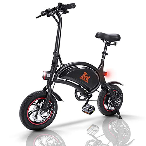 urbetter Electric Bikes for Adults, Foldable Electric Bicycle Commute Ebike 40-60km Range 250W Motor, 12 inch 36V E-bike City Bicycle with Pedal, B1 Pro