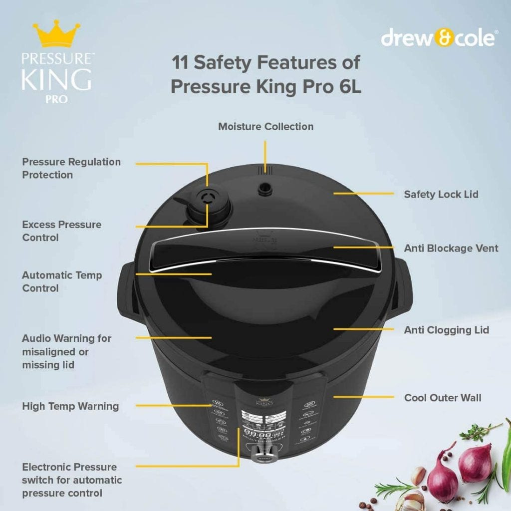 Drew & Cole Pressure King Pro Electric 20-In-1 Multi Cooker