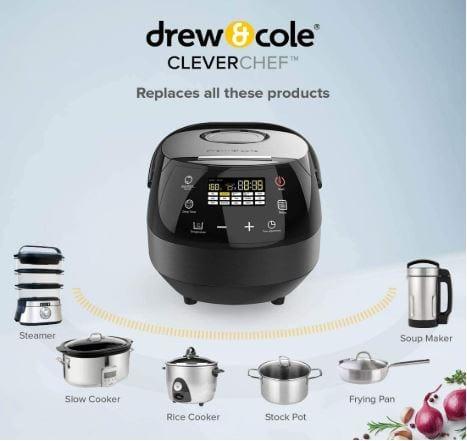 Drew&Cole CleverChef 14-in-1 Intelligent Digital Multi Cooker