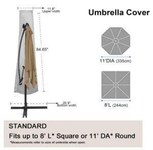 Choicehot Cantilever Parasol Cover