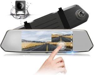 Toguard 7 Inch Mirror Dash Cam